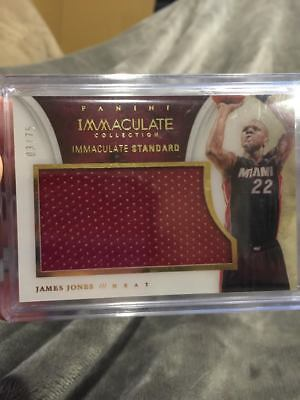 JAMES JONES 2013-14 IMMACULATE MIAMI HEAT GAME WORN JUMBO JERSEY PATCH /75!!!!!! for sale  Columbus