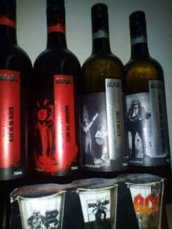 acdc collectors wine and shot glasses