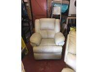 for sale electric recliner massage chair in cream leather