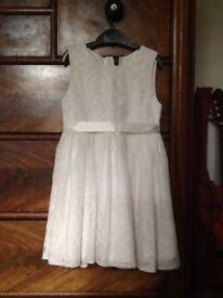 Girls white lace monsoon dress - age 7