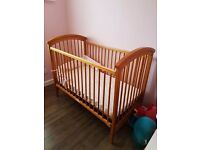 Childs pine stable cot