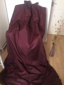 Curtains Purple Designer Thermal Blackout New 51W 86L