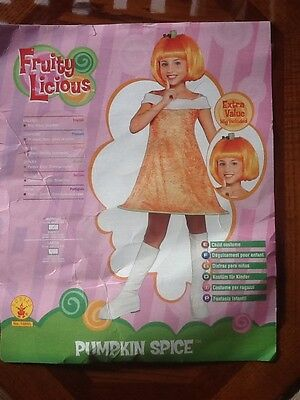 RUBIES Halloween Costume GIRLS PUMPKIN SPICE Orange Hoop Dress & Boots MED 8-10 ()