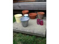 Garden pots lanterns