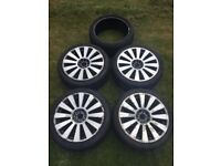 4 x 18 Inch RS8 Alloy Wheels (with spare tyre)