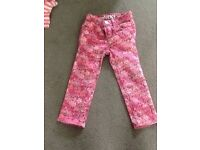 Baby girls pink skinny jeans from Gap.