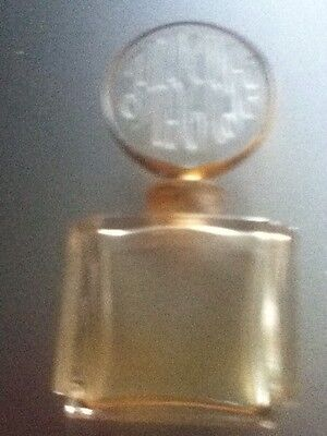 Vintage Empty Faberge Clear Perfume Bottle Made In France Etched Glass On Top
