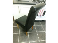 6 x Black leather dining chairs in Fantastic condition!