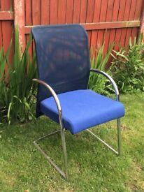 office chair , 2 tone blue