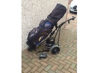Powakaddy trolley and bag very good condition absolute bargain Tel Or text John on 078412622674
