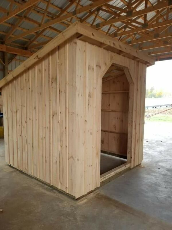 DYI kits 6x8 Goat Shelters, metal roof, treated skids everything needed included