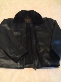Ladies black bikers leather jacket
