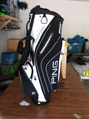 Ping Latitude Stand Bag Black White Really Nice Great Condition
