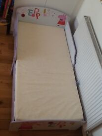 Peppa pig toddler bed with mattress