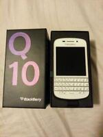 Lost White BlackBerry Q10 in OtterBox Defender case