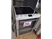60 cm cooker white ex display with warranty inc