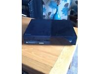 XBox 1 with headphones, controller and games