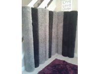 new LARGE shaggy rugs 160 x 220cm grey silver or black and grey mix pile