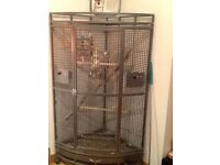 Cockatiels & cage for sale