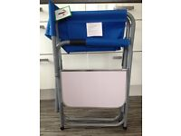 New Folding Directors Chair with Side Table in Blue