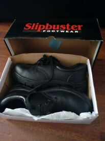 Women Black Safety Shoes Size 6.5