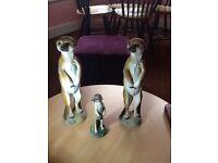 A family of meerkat ornaments