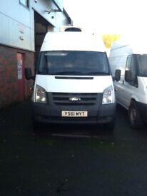 Choice of Jumbo Transit Fridge Vans from £4950