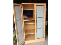 Computer cupboard with opaque doors