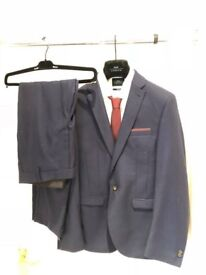 Moss London Slim Fit Suit complete with shirt and tie