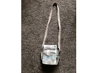 Animal grey canvas handbag