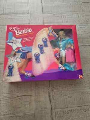 BARBIE RETIRED MIB Mattel Western Stampin Barbie & Western Star Horse Gift Set