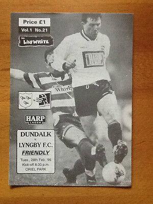Dundalk v Lyngby F C Friendly, 28/02/1995