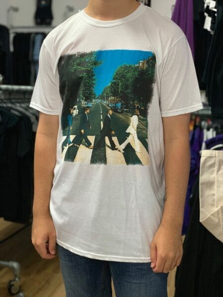 The Beatles Abbey Road White Unisex Official T Shirt Brand New Various Sizes for sale  Poole, Dorset