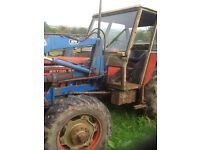 Zetor 5945 with loader 4 wheel drive