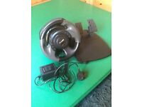 Microsoft steering wheel and pedal set. Pc