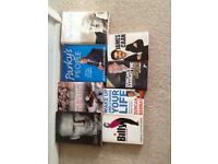 8 Books- David Beckham-Terry Venables-John Thaw-Parky- Billy Connolly & 3 Draons Dens