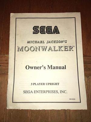 Sega Arcade MOONWALKER ORIGINAL MARQUEE Michael Jackson Excellent Cond