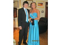 Women's full length blue formal dress, size 10