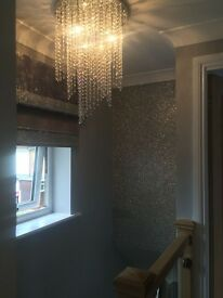 Glitter Wall Fabric Wallpaper Supplied & Fitted