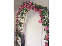 Pink flower arch