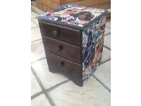 Upcycled Star Wars Chest of Drawers / Bedside Cabinet