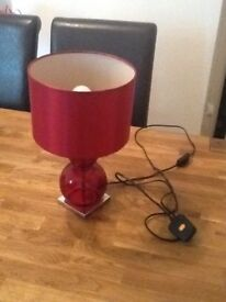 Red table lamp from next