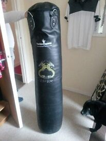 Punch bag, chain and bracket
