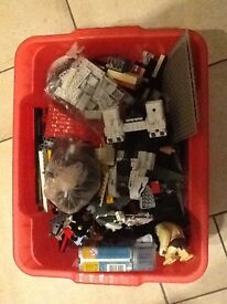 Assorted box of Lego.