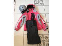 Child's 164cms Ice Peak Ski Jacket and Salopettes. R.E.D. Child's Youth Helmet.
