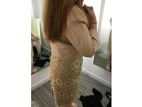 Mother of the Bride Gold Dress with Jacket