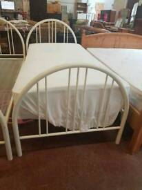 White single bed frame,s £30 each x2 in stock