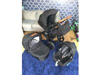 Black and Tan venicci pram pushchair