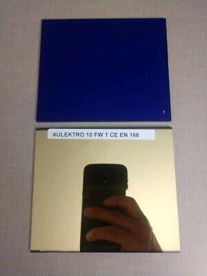 Aulektro Extreme Blue Welding Lens 2pc Set Sh 11 4.5x 5.25 - Weld In Hi Def