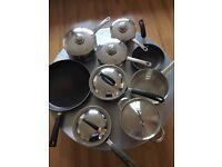 Kitchen cookware and saucepans set